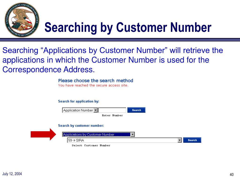 Searching by Customer Number
