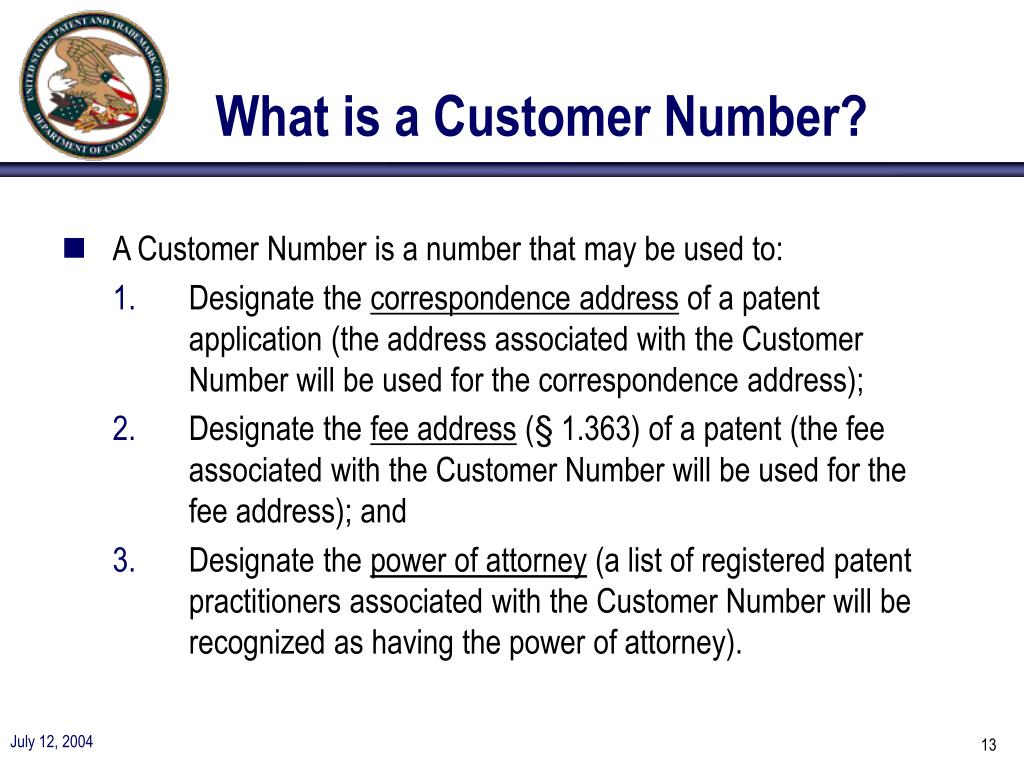 What is a Customer Number?