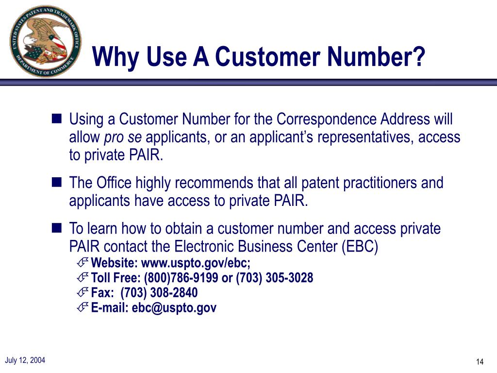 Why Use A Customer Number?