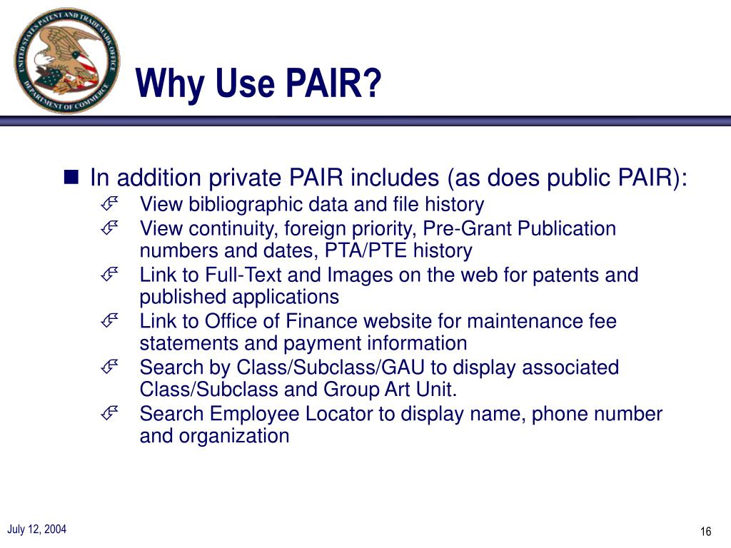 Why Use PAIR?