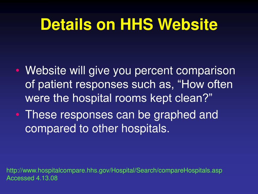 Details on HHS Website