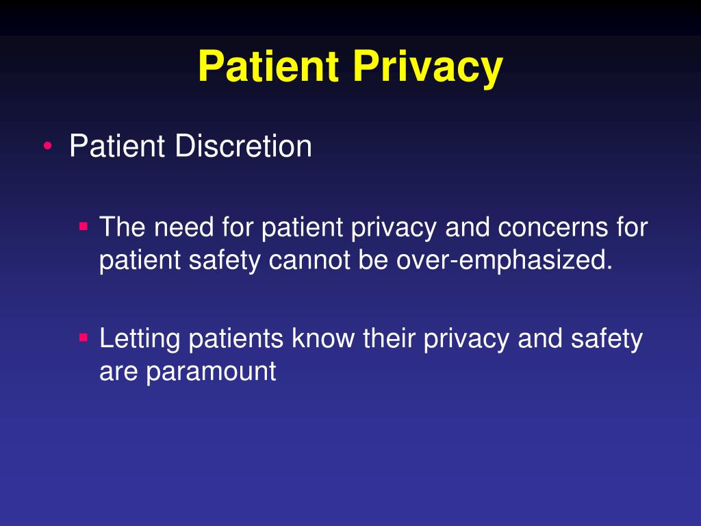 Patient Privacy