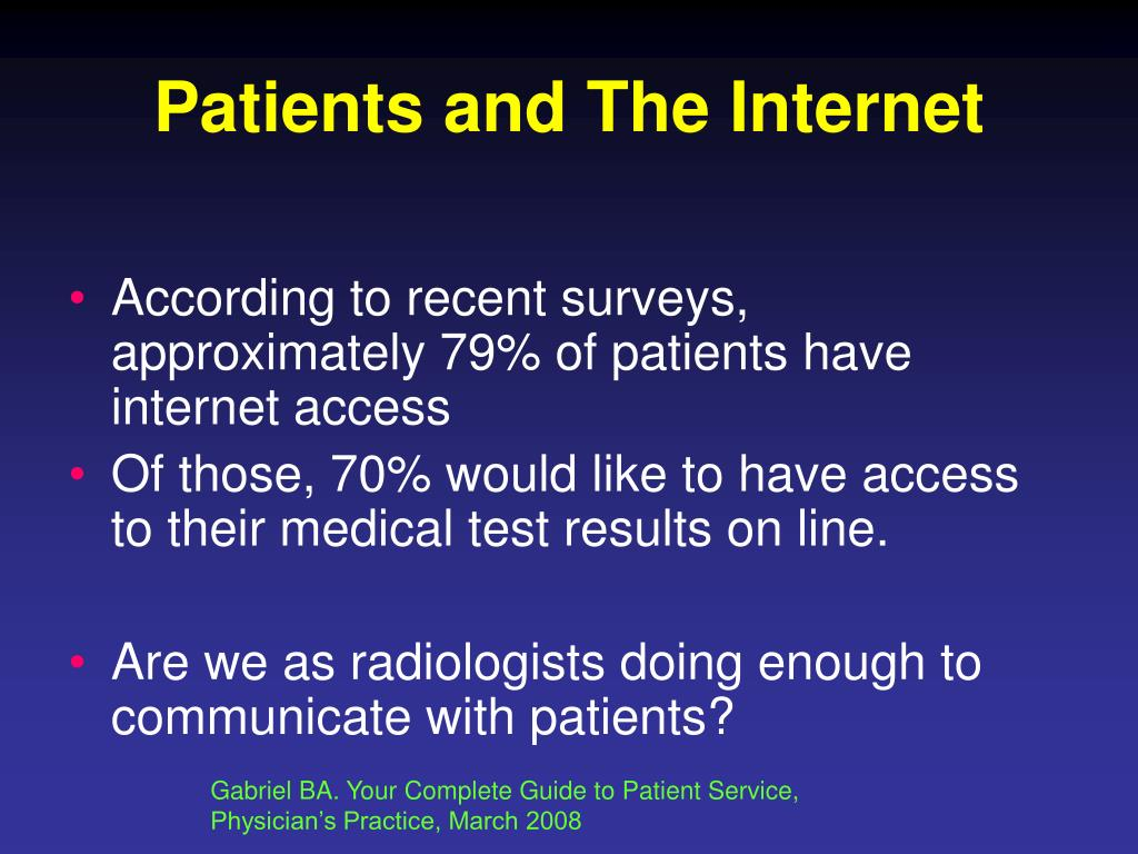 Patients and The Internet