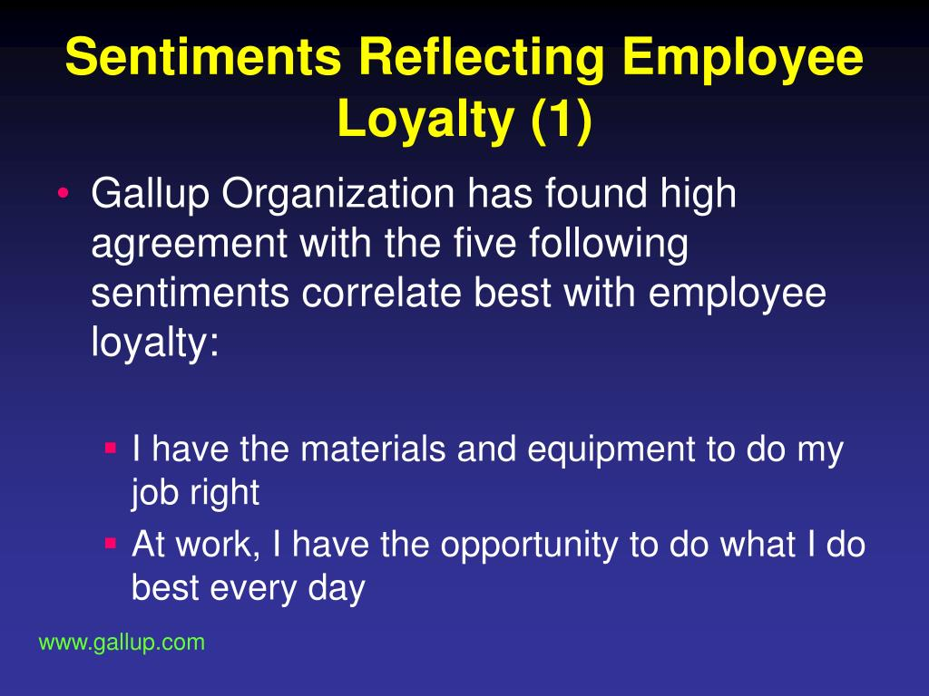 Sentiments Reflecting Employee Loyalty (1)