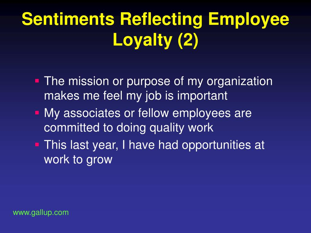Sentiments Reflecting Employee Loyalty (2)