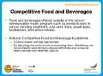 competitive food and beverages