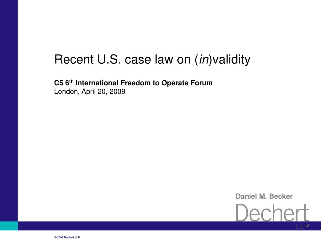 recent u s case law on in validity