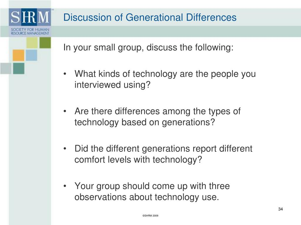 Discussion of Generational Differences