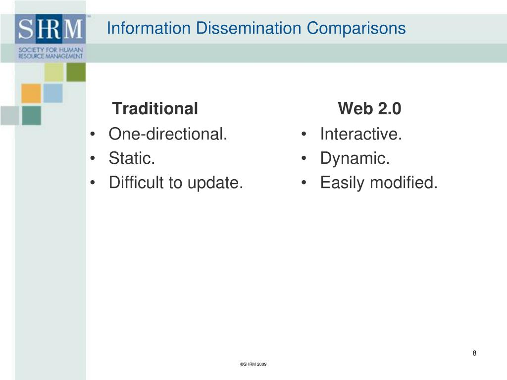 Information Dissemination Comparisons