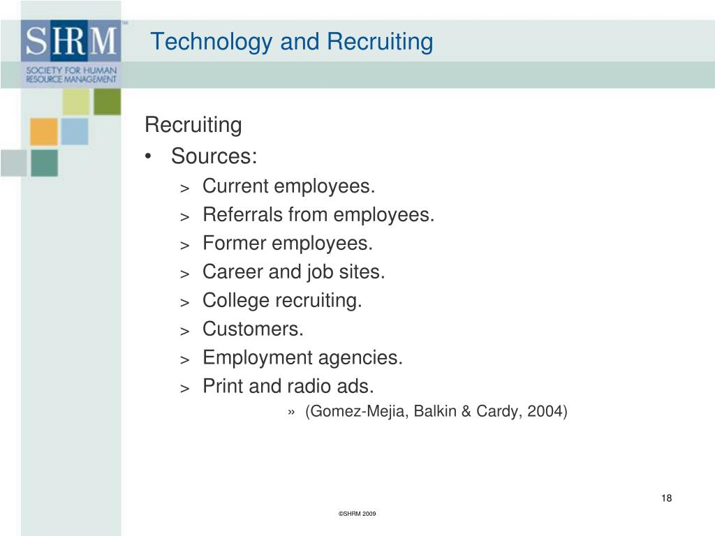 Technology and Recruiting