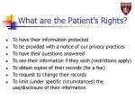 what are the patient s rights