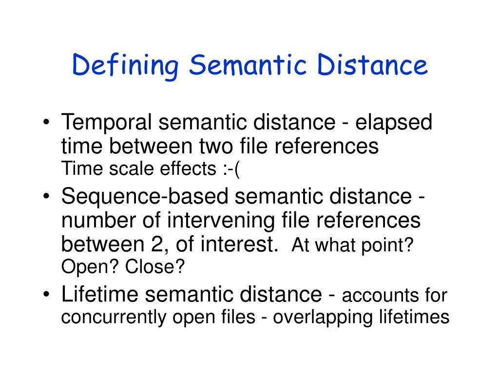 Defining Semantic Distance