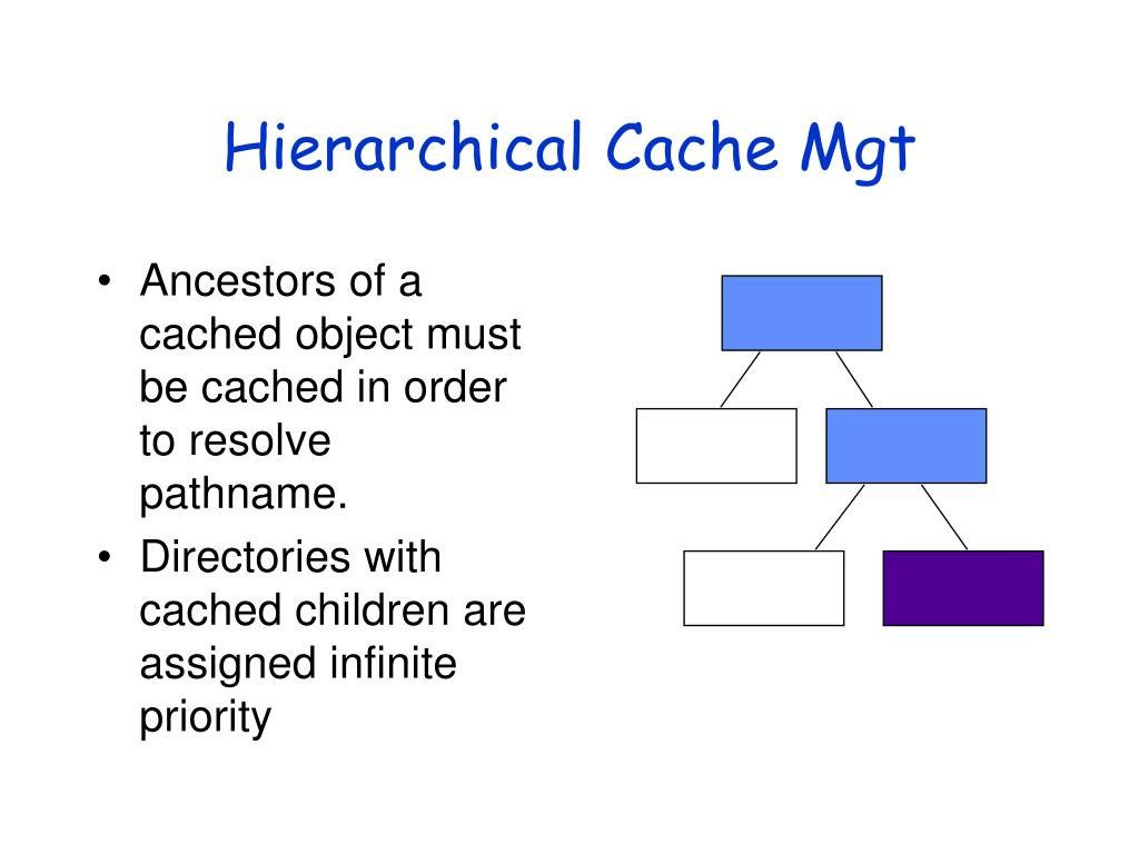 Hierarchical Cache Mgt