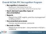 overall ncqa ppc recognition program