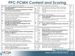 ppc pcmh content and scoring