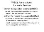 wsdl annotations for each service