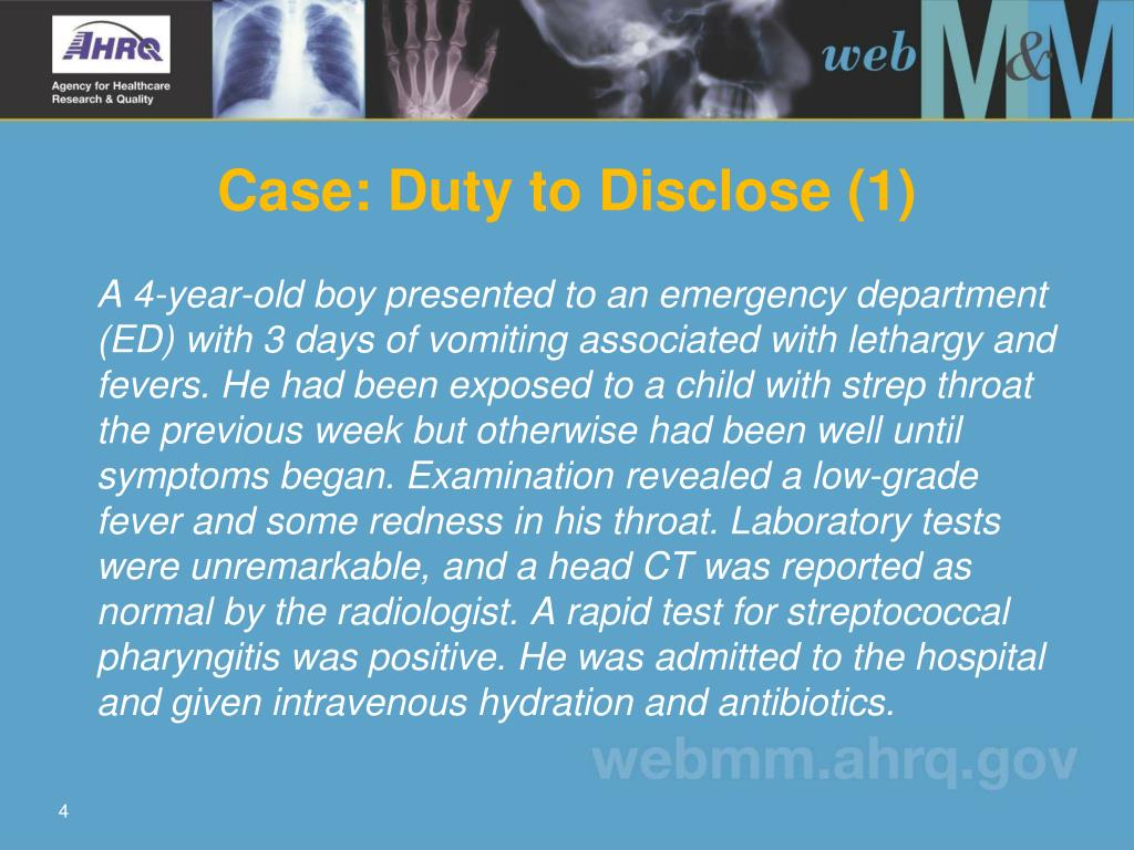 Case: Duty to Disclose (1)
