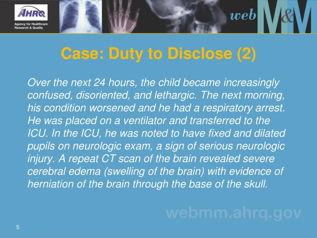 Case: Duty to Disclose (2)