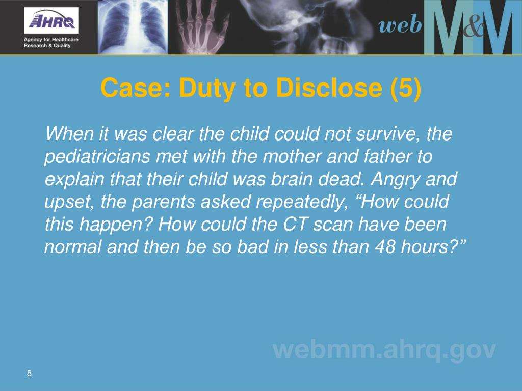 Case: Duty to Disclose (5)