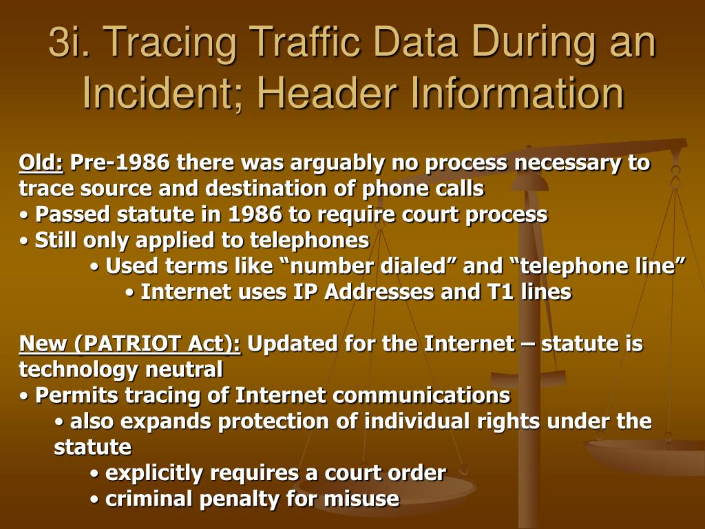 3i. Tracing Traffic Data
