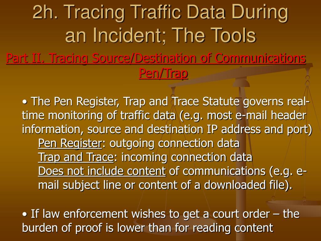 2h. Tracing Traffic Data