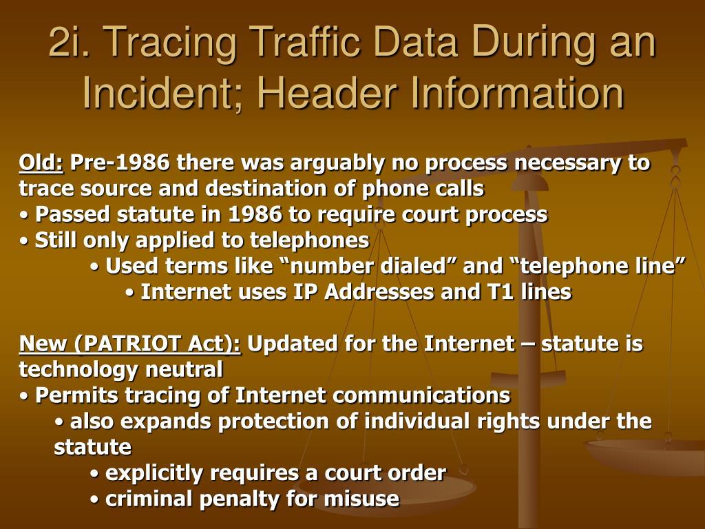 2i. Tracing Traffic Data