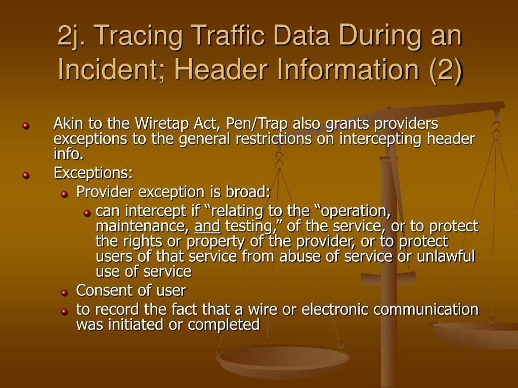 2j. Tracing Traffic Data
