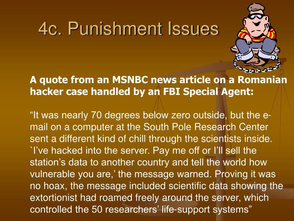 4c. Punishment Issues