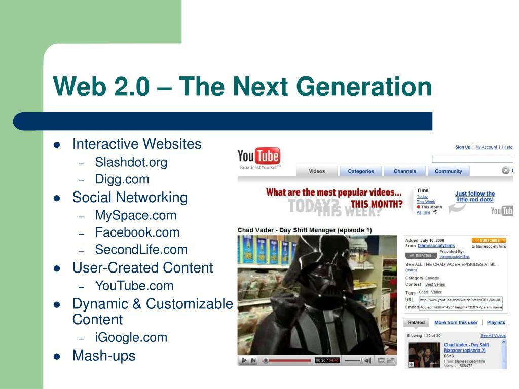 Web 2.0 – The Next Generation