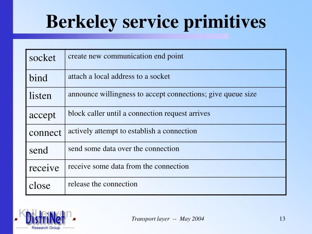 Berkeley service primitives