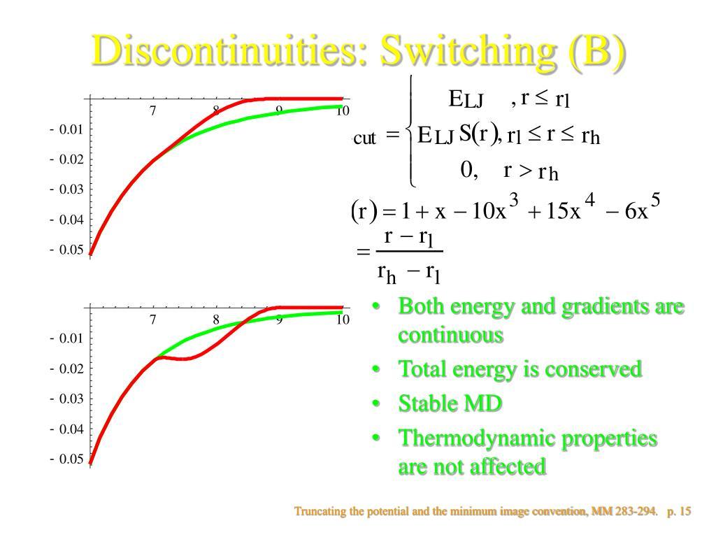 Discontinuities: Switching (B)