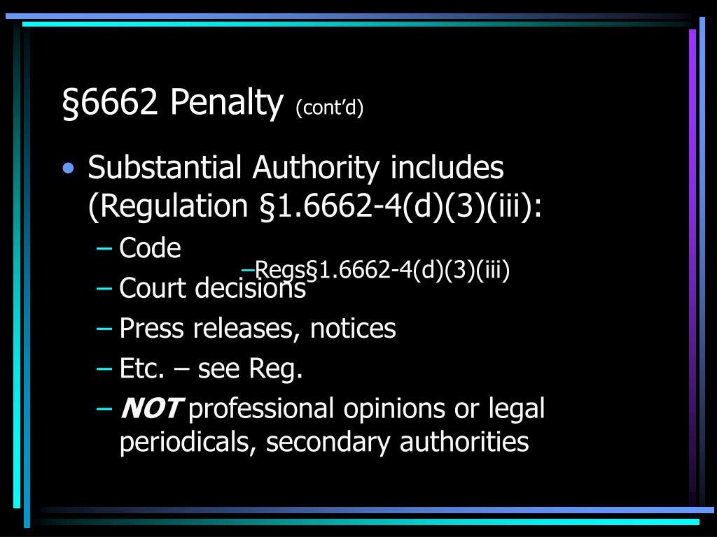 §6662 Penalty