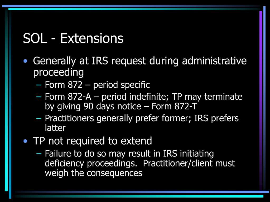 SOL - Extensions