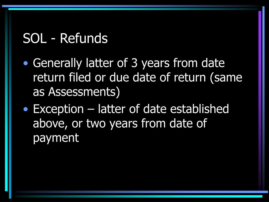 SOL - Refunds