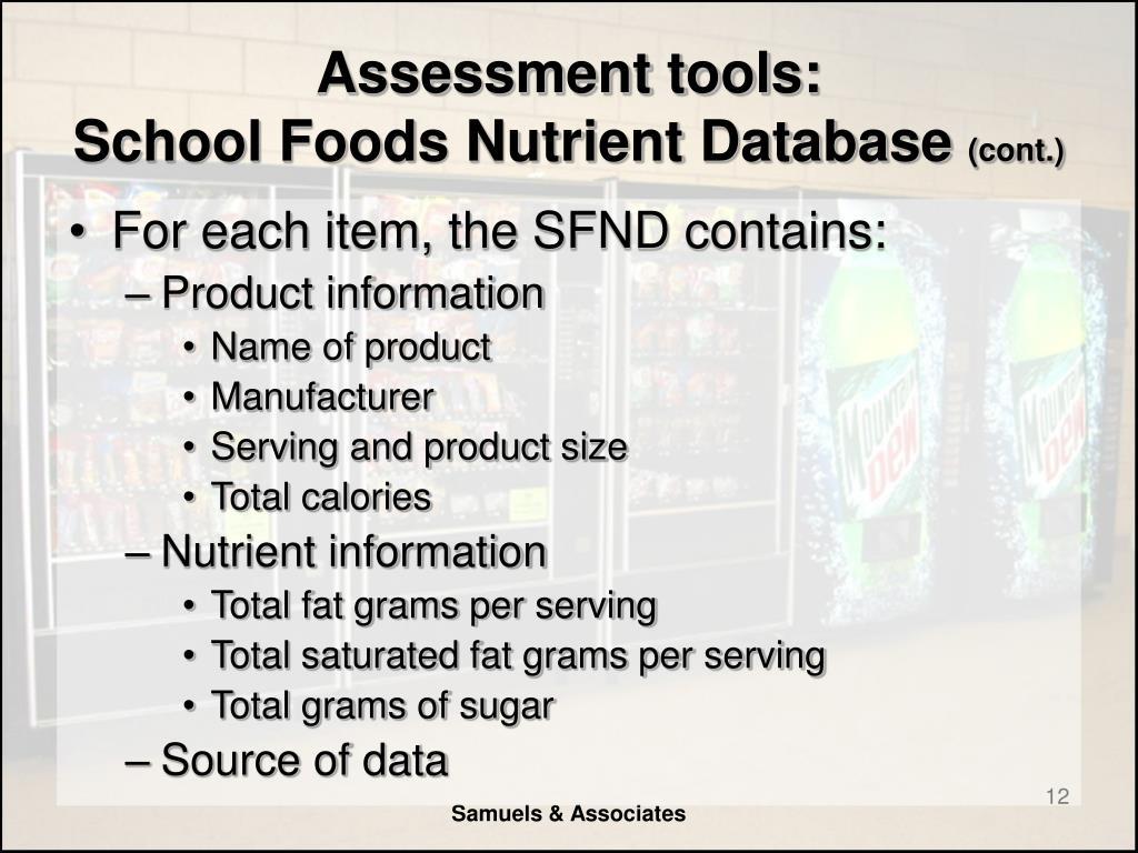 Assessment tools: