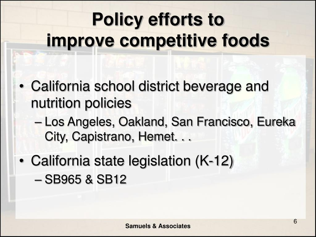 Policy efforts to