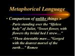 metaphorical language