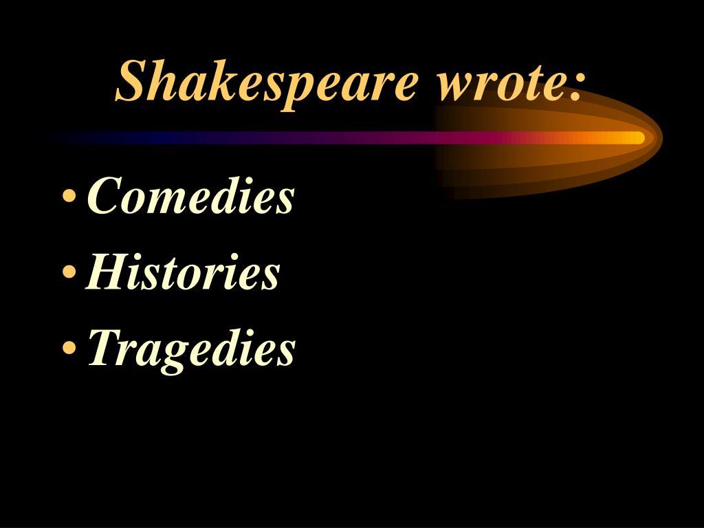 Shakespeare wrote: