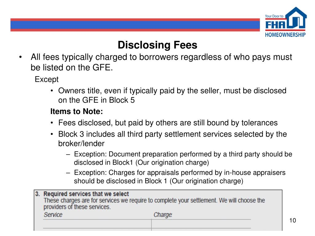 Disclosing Fees