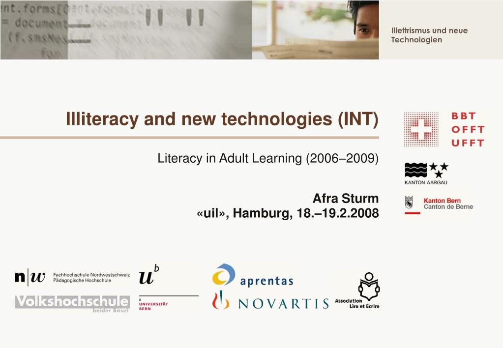 illiteracy and new technologies int l.