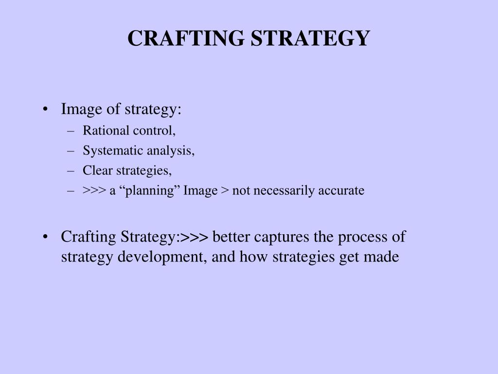 crafting strategy l.