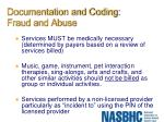 documentation and coding fraud and abuse