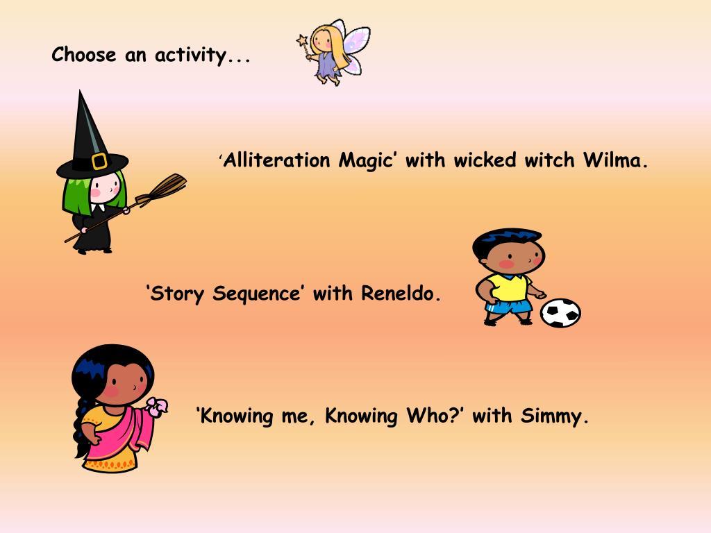 Choose an activity...
