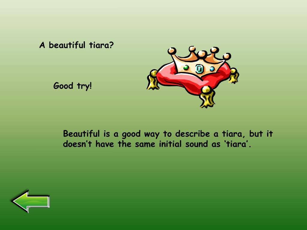 A beautiful tiara?
