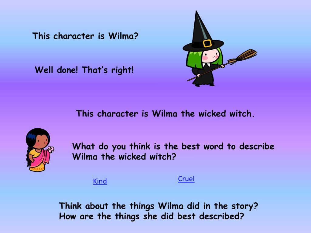 This character is Wilma?