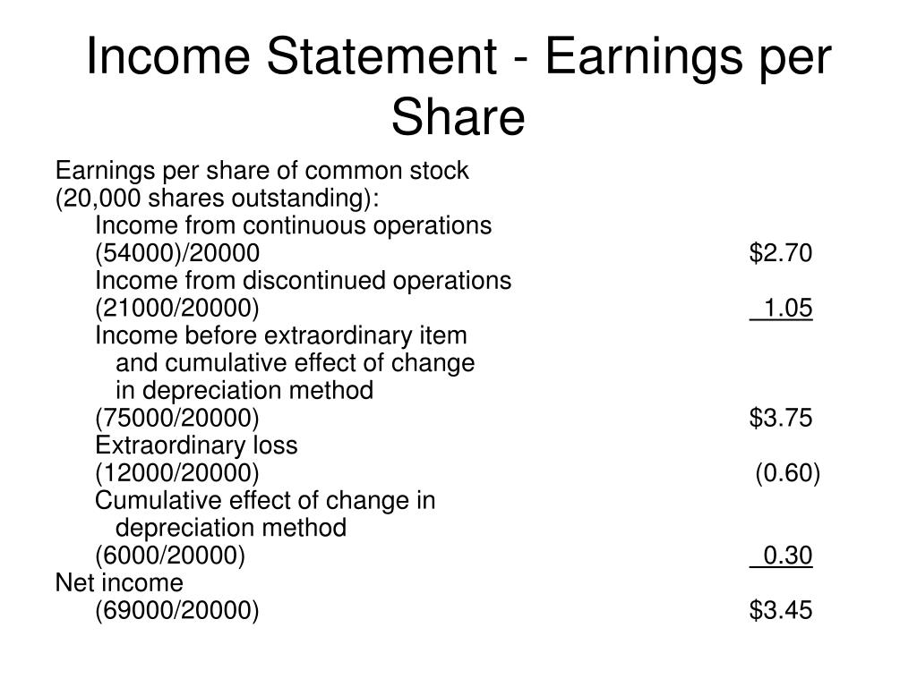 Income Statement - Earnings per Share