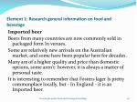 element 1 research general information on food and beverage26