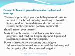 element 1 research general information on food and beverage54