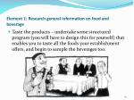 element 1 research general information on food and beverage59