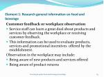 element 1 research general information on food and beverage63